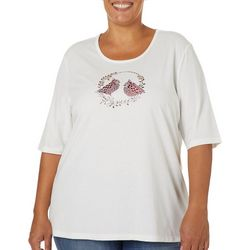 Coral Bay Plus Holiday Cardinal Embellished Top