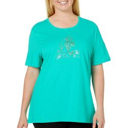 Coral Bay Plus Jeweled Seahorse Top