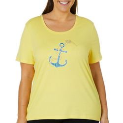 Coral Bay Plus Embroidered Anchor Top
