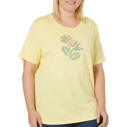 Coral Bay Plus Embellished Bird Of Paradise Top