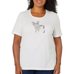 Coral Bay Plus Embellished Bulldog Short Sleeve Top
