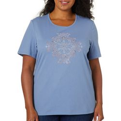 Coral Bay Plus Solid Embellished Medallion Top