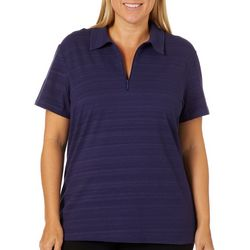 Coral Bay Energy Plus Striped Short Sleeve Polo Shirt