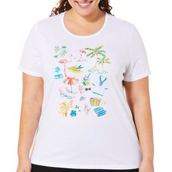Coral Bay Plus Embellished Beach Day Top