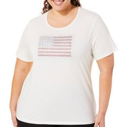 Coral Bay Plus Jeweled American Flag Top