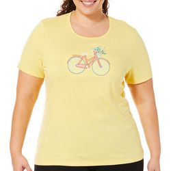 Coral Bay Plus Jeweled Embroidered Bicycle Top
