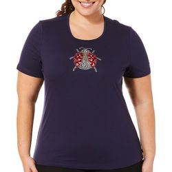 Coral Bay Plus Jeweled Lady Bug Top