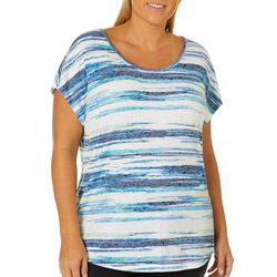 Coral Bay Plus Striped Burnout Top