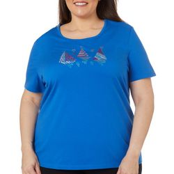 Plus Americana Jeweled Boats Top
