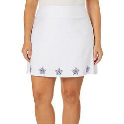Coral Bay Plus Embellished Americana Star Border Skort