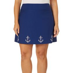 Coral Bay Plus Embellished Anchor Border Skort