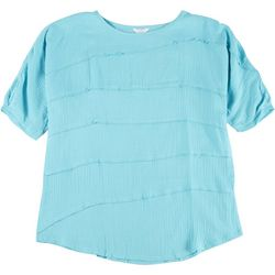 Coral Bay Plus Solid Tiered Textured Top