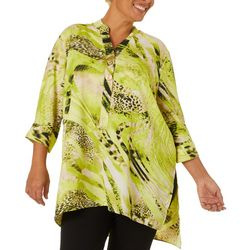 Coral Bay Plus Mixed Animal Print Tunic Top
