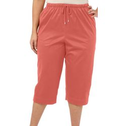 Coral Bay Plus Solid Twill Pull On Capris