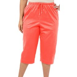 Coral Bay Plus Pull On Drawstring Capris
