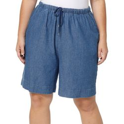 Coral Bay Plus The Everyday Twill Drawstring Shorts