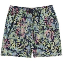 Coral Bay Plus Leaves  Casual Shorts