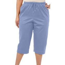 Coral Bay Plus Drawstring Twill Capris
