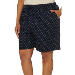 Coral Bay Plus Dot Print Drawstring Shorts