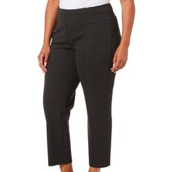 Zac & Rachel Plus Solid Compression Pull-On Pants
