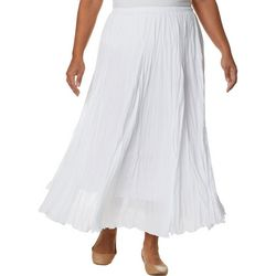 Zac & Rachel Plus Solid Crinkle Maxi Skirt