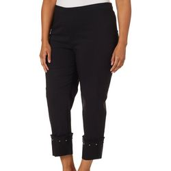 Zac & Rachel Plus Embellished Hem Ankle Pants