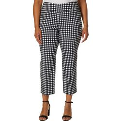 Zac & Rachel Plus Gingham Print Pull On Pants