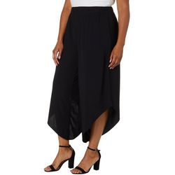 Coco Bianco Plus Solid Diagonal Hem Pull On Pants
