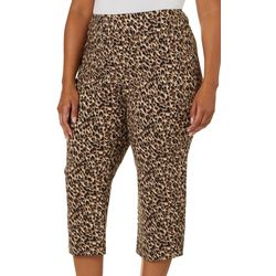 Counterparts Plus Leopard Print Pull On Capris