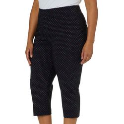 Counterparts Plus Super Stretch Polka Dot Pull On Capris