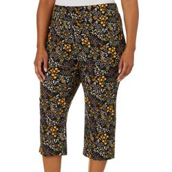 Counterparts Plus Floral Print Pull On Capris