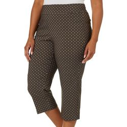 Counterparts Plus Geometric Pattern Print Pull On Capris