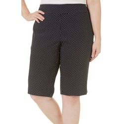 Counterparts Plus Polka Dot Super Stretch Tummy Shorts