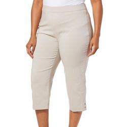Counterparts Plus Grommet Embellished Hem Crop Pull On Pants