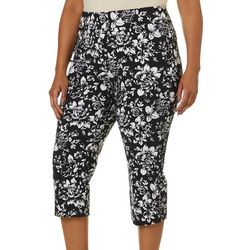 Counterparts Plus Floral Printed Pull On Capris