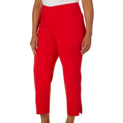 Counterparts Plus Pull-On Grommet Embellished Crop Pants