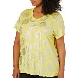 Sunsets and Sweet Tea Plus Metallic Palm Leaf T-Shirt