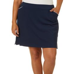 Ruby Road Golf Plus Solid Pull On Skort