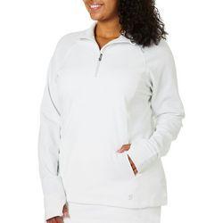 Sofibella Plus Solid Knit Fleece Lined Jacket