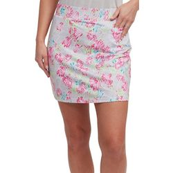 Pebble Beach Plus Floral Print Skort