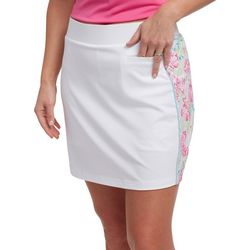 Pebble Beach Plus Floral Print Panel Skort