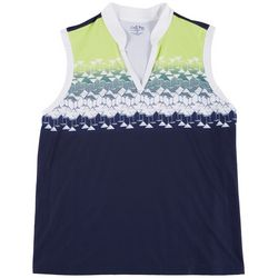 Coral Bay Golf Plus Martini Sleeveless Top