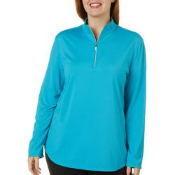 Coral Bay Golf Plus Solid Long Sleeve Polo Shirt