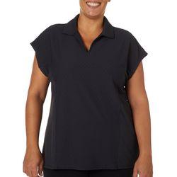 Coral Bay Energy Plus Solid Diamond Textured Polo Shirt