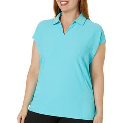 Coral Bay Energy Plus Solid Diamond Textured Polo Shirt
