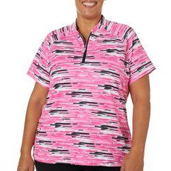 Coral Bay Golf Plus Graphic Stripe Polo Shirt