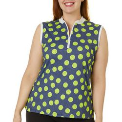 Lillie Green Plus In Your Court Sleeveless Polo Shirt