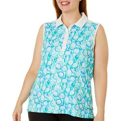 Lillie Green Plus Fore! Sleeveless Polo Shirt