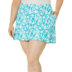 Lillie Green Womens Fore Print Flounce Pull On