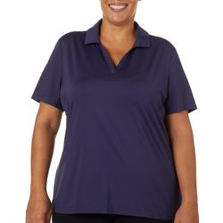 Coral Bay Golf Plus Solid Short Sleeve Polo Shirt